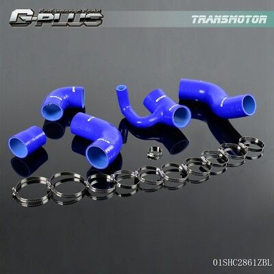 Volvo V70t5 - Silicone Turbo Boost Pipe Hose Kit For Volvo 850 T-5/T-5R S70/V70 T5 2.3L Blue