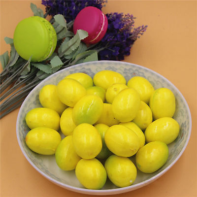 20 pcs Artificial Fruit Miniature Yellow Lemon Crafts 3.5cm Wedding Home Decor