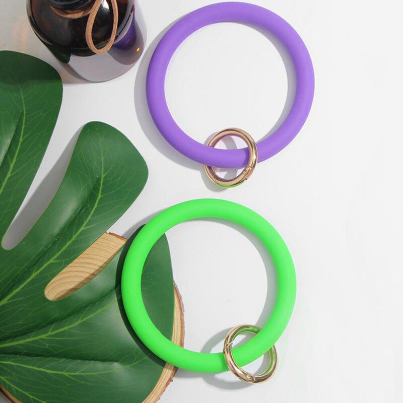 Wrist Strap Circle Wristlet Keychain O-Ring Bangle Bracelet