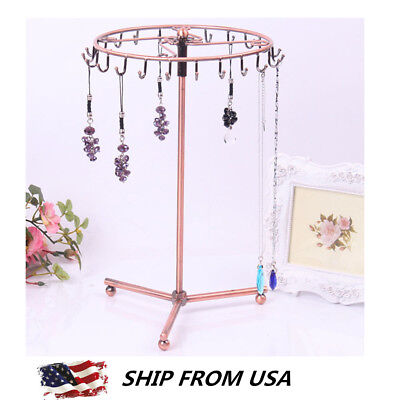 (Jewelry Tree Holder Stand Display Earring Necklace Rack Organizer Ring Storage)