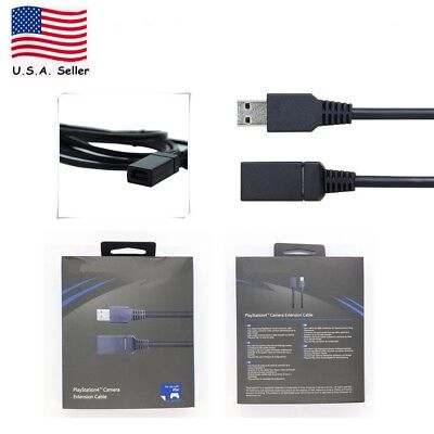Us Negro Sensor Cámara Cable de Extensión para Sony Playstation4 PS4 VR Eye
