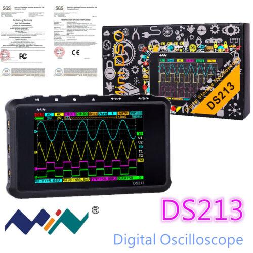 New Portable LCD 4-channel Digital Oscilloscope DS213 USB 15MHz 100MSa/s Models
