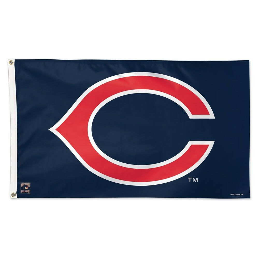 CLEVELAND INDIANS COOPERSTOWN RETRO LOGO 3'X5' DELUXE FLAG N