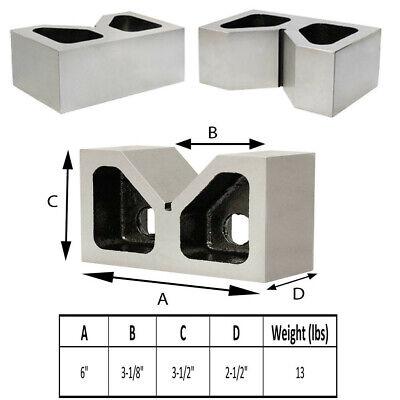 Pair of Cast Iron VEE BLOCKS 6 Inch Parallels Measuring Tools