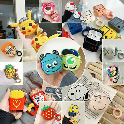 Cute 3D AirPods Silicone Case Protective Cover Skin For AirPod Charging Case USA