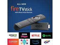 BRAND NEW - Amazon FireTV Stick Alexa Voice + Kodi FULLY LOADED - MOVIES SPORTS TV SHOWS BOX OFFICE