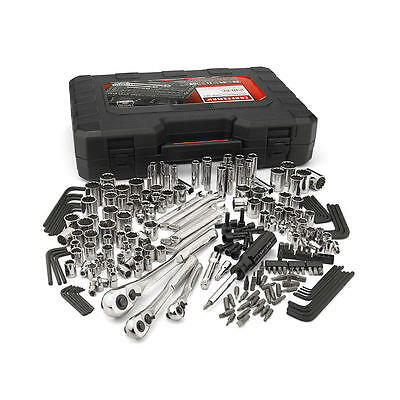 Craftsman 230-Piece Silver Finish Standard Metric Mechanics Tool Set 230 pc #165