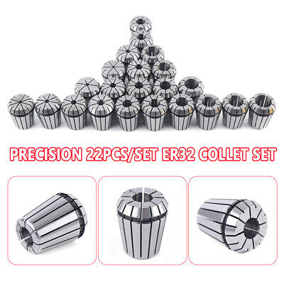 New 22pcsset Er32 Collet Set Metric Size High Precision Spring Clamping Collet