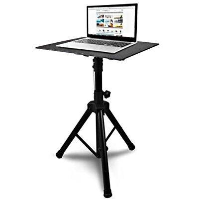 - Theater Projector Stand DJ Laptop Desk Tripod Adjustable 46in Workstation Table