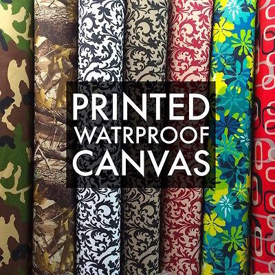 - Printed Canvas Fabric Waterproof Outdoor 60