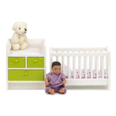Melody Jane Dolls House Lundby Nursery Baby Furniture Cot Changing Table Set for sale  Shipping to South Africa