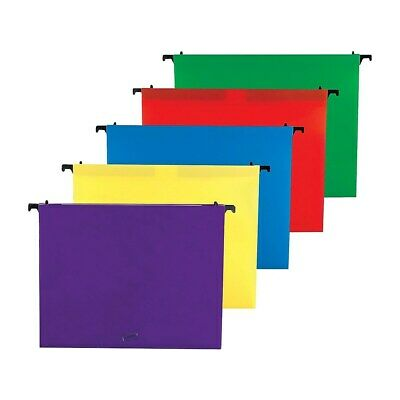 Staples Poly Expanding Hanging File Folders Letter Size Assorted 5pk 706811