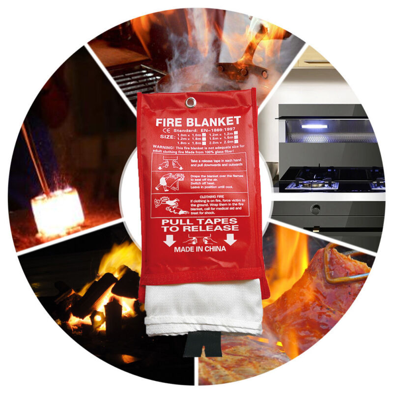 Fire Blanket Emergency Survival Shelter Safety Protector Ext