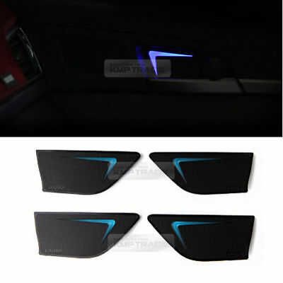Blue LED Inner Door Catch Handle Plate Panel 4EA For HYUNDAI 2011-14 Sonata i45