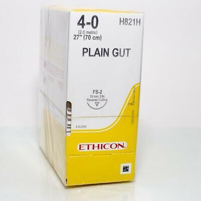 Jj Ethicon H821h Suture Plain Gut Yellowish Tan Fs2 40 27 Monofilament 36bx