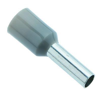 Grey 2.5mm Bootlace Ferrule Connectors - Pack of 100 - 2,5 Mm Ferrule