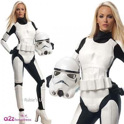 STAR WARS STORMTROOPER Erwachsenes Abendkleid-Kostüm-Damen-LIZENZ