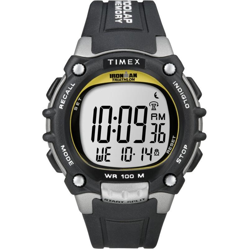 Timex Ironman Traditional 100-Lap - Black/Silver/Yellow Watch  (T5E231)