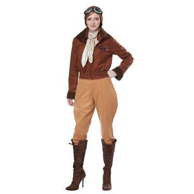 California Costumes Amelia Earhart Female Aviator Women Costume - Aviator Womens Kostüm