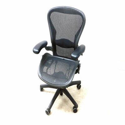 Herman Miller Aeron Series Size B Office Chair Black Missing Tilt Knob Asis