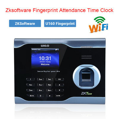 Zksoftware U160 Biometric Wifi Attendance Fingerprint Scanner 3 Color Tft Usa