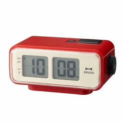 BRUNO Retro LCD Digital Flip Desktop Alarm Clock S Red BCR003-RD