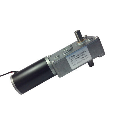 High Torque Dc 12v 3rpm Electric Worm Geared Motor With Double Out Shaft 8mm