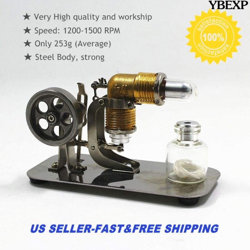 New Mini Hot Air Stirling Engine Motor Model Educational Toy Kits Electricity US