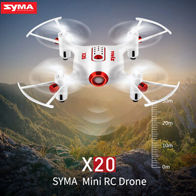 Syma X20 Pocket RC Quadcopter Drone 2.4G 4CH Headless Altitude Hold Mode White