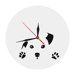 Peeping Dog Wall Clock Abstract Doggy Art Home Decor Dog Peeping On The Clock
