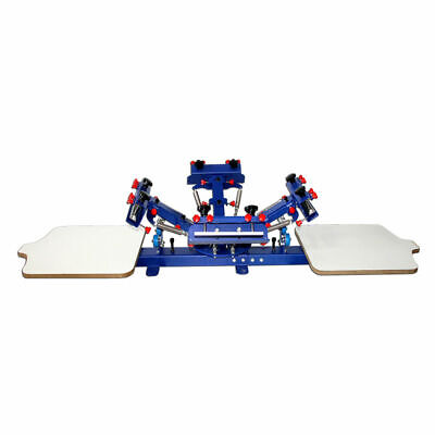 2218 4 Color 2 Station Screen Press Printing Machine Micro-adjust Function