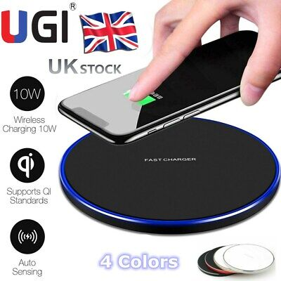 QI Wireless Charger Pad Charging iPhone 11/Pro/Max/XS/8/Galaxy Note 8/9/10/S10