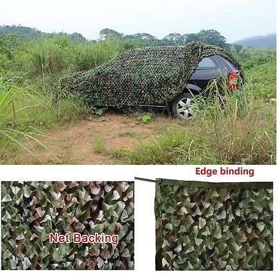 Woodland Camouflage Netting Military Camo Hunting Cover Net Backing 10 x 16 feet