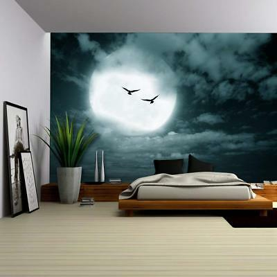 Wall26 - Halloween Background Full Moon and Sky Dark Style - CVS - 66x96 inches](Halloween Sky Background)