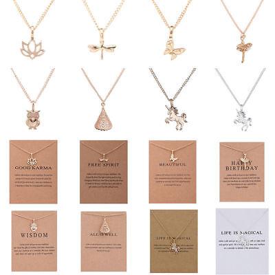 Jewellery - Women Fashion Simple Christmas Necklace Animal Charm Pendant Collar Jewelry Gift