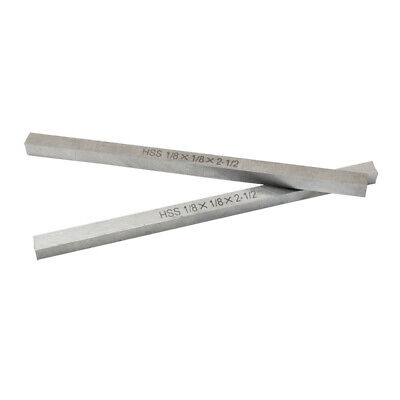 2 PC High Speed Steel HSS Square Tool Bit 1/8 x 2-1/2