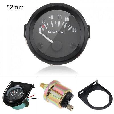 52mm 12V 100PSI Digital Oil Pressure Gauge Indicator Tachometer Sensor Meter Kit