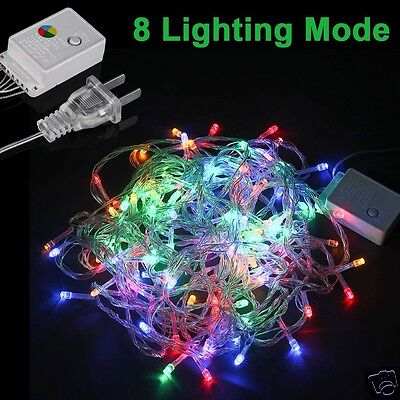10M RGB LED Christmas Tree Fairy Xmas String Party Decor Lights Lamp Waterproof