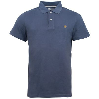 Timberland Regular Fit Mens Collared Blue Cotton Polo Shirt A1A4L 432 EE 200