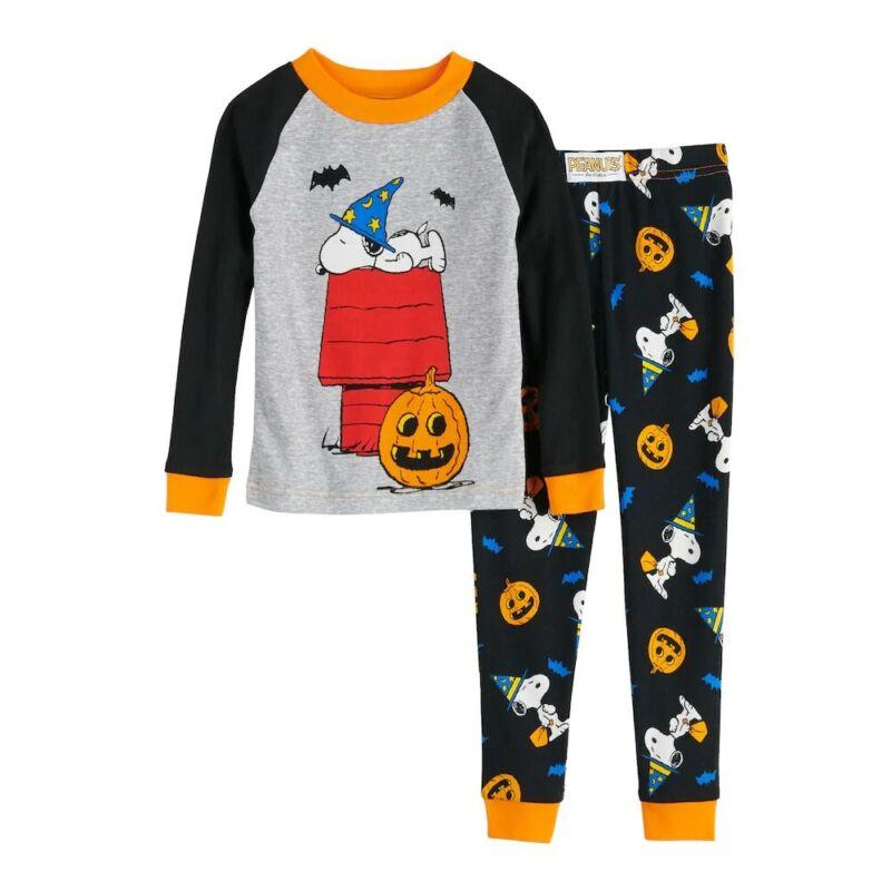 SNOOPY Halloween Pajamas Size 3 3T Boys Girls Peanuts NWT not Mario