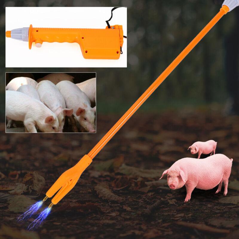 Livestock Prod Cattle Hot Shot Handle Swine Electric Hand Prod for Animal 82cm