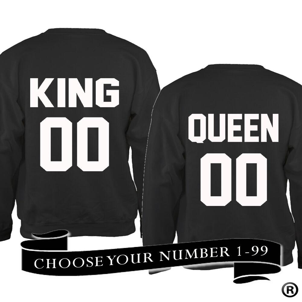 00 Re e Regina 00 Felpa KING 01 REGINA 01 *** la scelta del numero ***