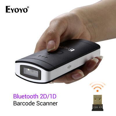 Eyoyo Wireless Btooth 2d1dqr Scan Barcode Scanner Bar Code Reader Handheld