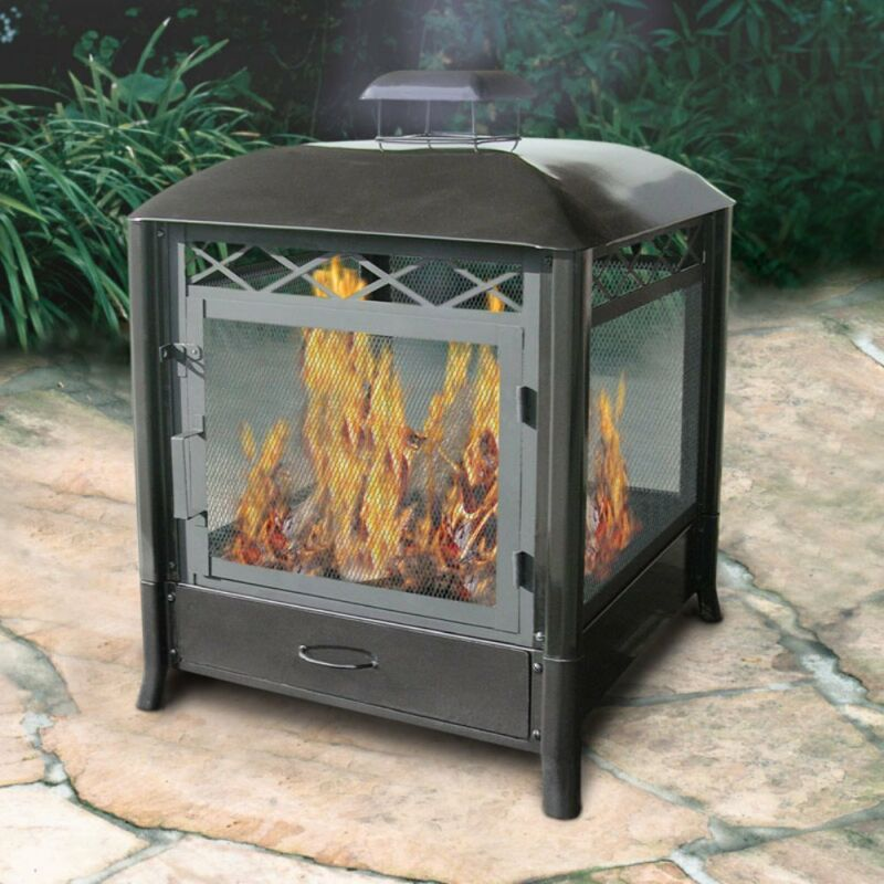 Landmann Aspen Outdoor Fireplace Black 28107