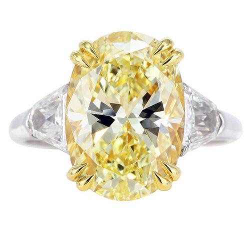 Vintage design 18K Fancy Yellow 2.20 CTW Oval cut Diamond Ring GIA certified