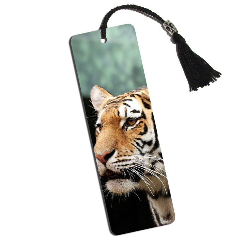 Tiger in the Wild Printed Bookmark with Tassel