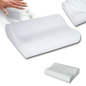 New Sleep Innovations Memory Foam Contour Pillow Cervical Neck Removable Cover