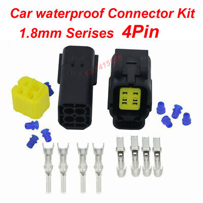 4pin Car Motorcycle Waterproof Electrical 1.8mm Serises Awg Wire Connector Plug