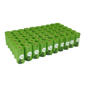 1080 counts green dog waste bags unscented 60 rolls doggie refill bag 9x13 large - Dog Waste Bags
