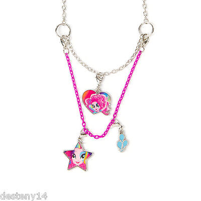My Little Pony Equestria Girls Pinkie Pie Necklace 3 in 1 Hasbro MLP New